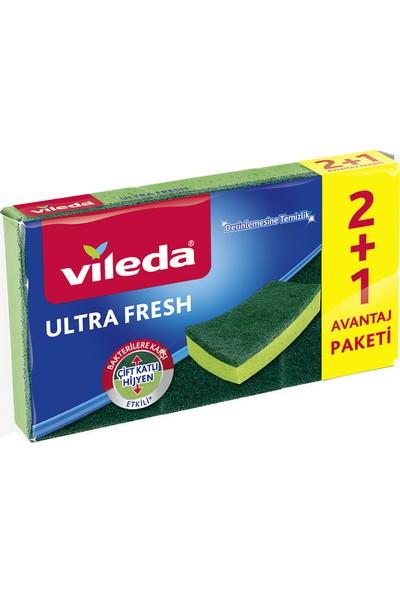 Vileda Ultra Fresh 2 + 1 Düz Bulaşık Süngeri