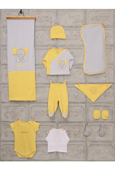 Bebitof Kız Erkek Bebek Fil Desenli 10 Lu Hastane Çıkışı 17012