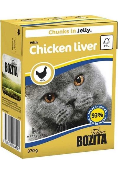 Bozita Chunks In Jelly With Chicken Liver Kedi Maması 370 gr 12'li Set