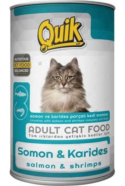 Quik Somon-Karidesli Kedi Konservesi 415 gr 6'lı Set