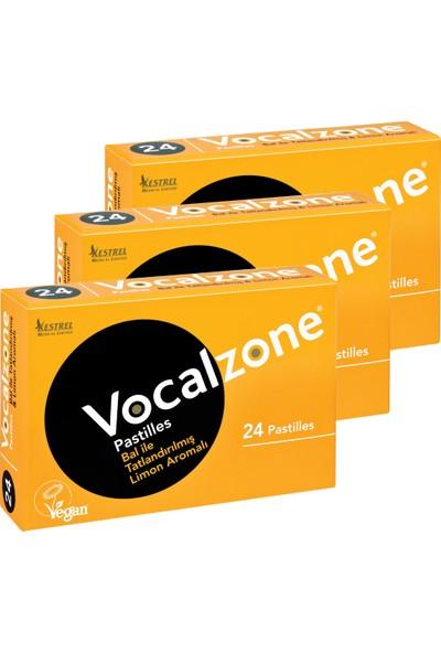 Vocalzone Ballı Limonlu 24 Pastil 3'lü + Preven El Temizleme Mendili