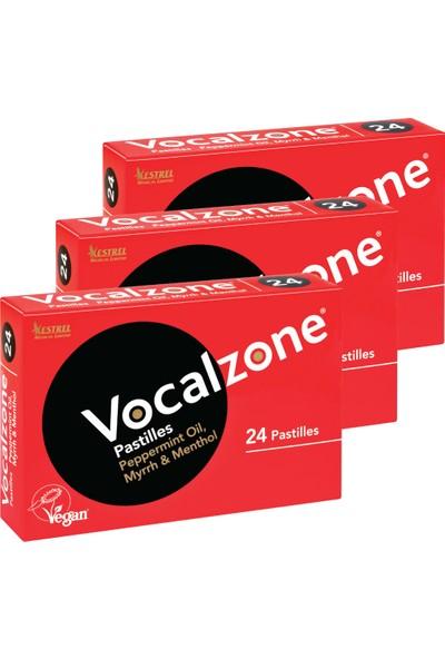 Vocalzone Klasik 24 Pastil 3'lü + Preven El Temizleme Mendili
