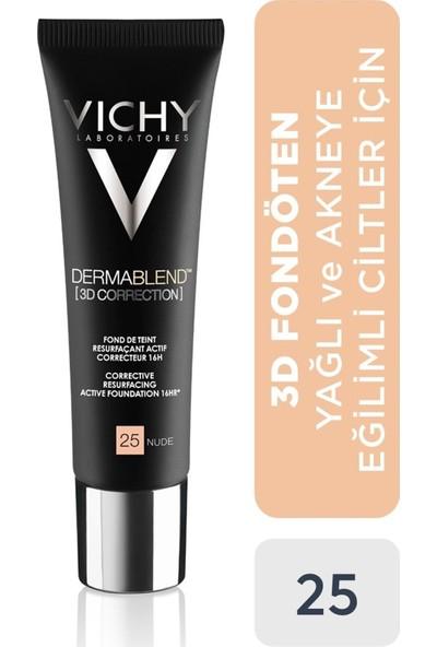 Vichy Fondöten Karma,yağlı ve Akneye Eğilimli Ciltler 25 Doğal Renk 30 ml