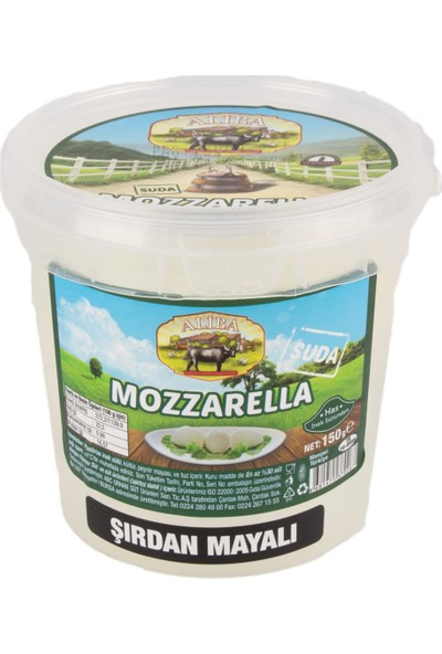 Aliba Inek Mozzarella Peyniri Şırdan Mayalı 150 gr