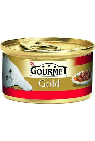 Gourmet Gold Sığır Etli Tavuklu Kedi Konservesi 85 gr 3'lü Set