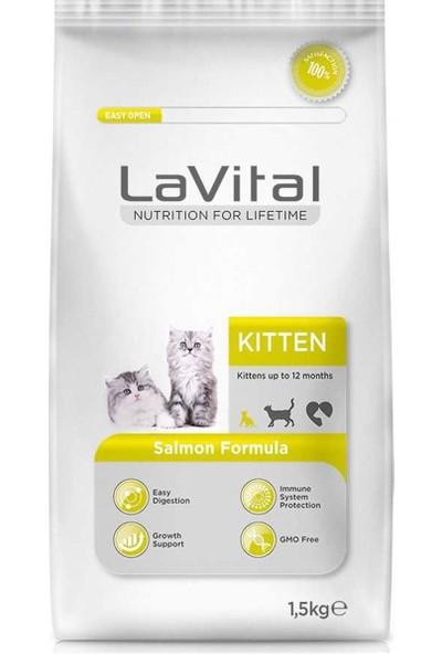 La Vital Kitten Somonlu Yavru Kedi Maması 1,5 kg 10'lu Set Idili