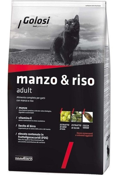 Golosi Sığır Etli Yetişkin Kedi Maması 7,5 kg Idili