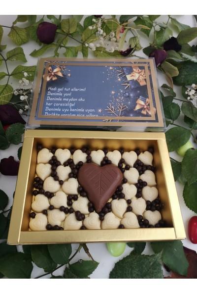 40 Yıl Çikolata Kahve Yılbaşı Hediyelik Çikolata Draje Kutusu 110 gr