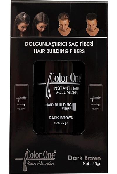 Color One Hair Building Fibers 25 gr Saç Dolgunlaştırıcı Fiber Koyu Kahverengi