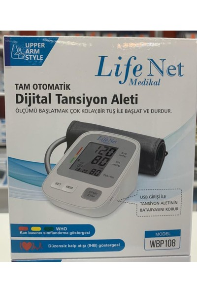 Life Net Medikal WBP108 Koldan Ölçer Otomatik Dijital Tansiyon Aleti