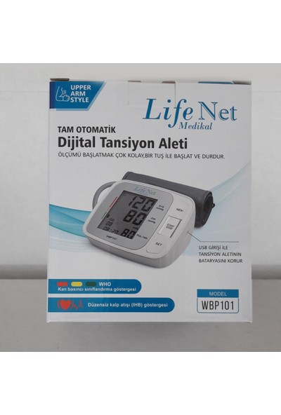 Life Net Medikal WBP101 Koldan Otomatik Ölçer Tansiyon Aleti Hafızalı Model