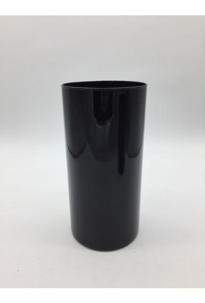 Afloday Siyah 26 cm Silindir Cam Vazo