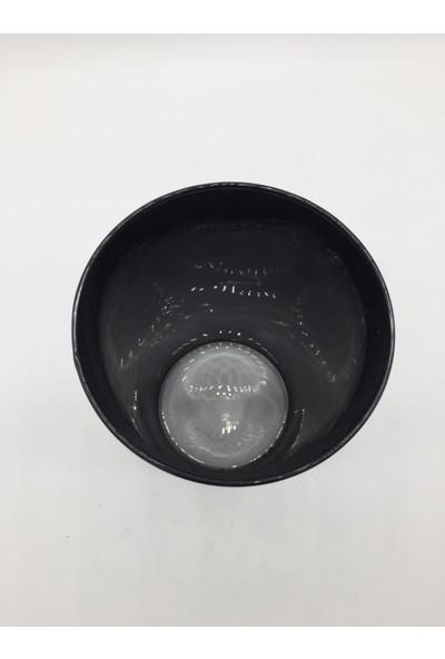 Afloday Siyah 21 cm Silindir Cam Vazo
