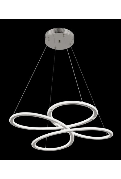 Luna Lighting Krom LED Avize Ledli Sarkıt Avize