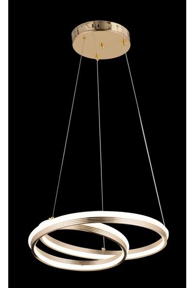 Luna Lighting Luxury Gold Sarı LED Avize