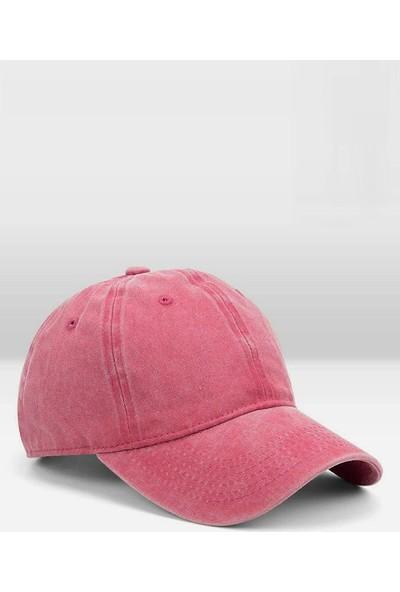 Külah Erkek Eskitme Şapka Yazlık Outdoor Kep Kasket-Pembe