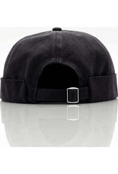 Külah Siyah %100 Pamuk Cap Docker Şapka