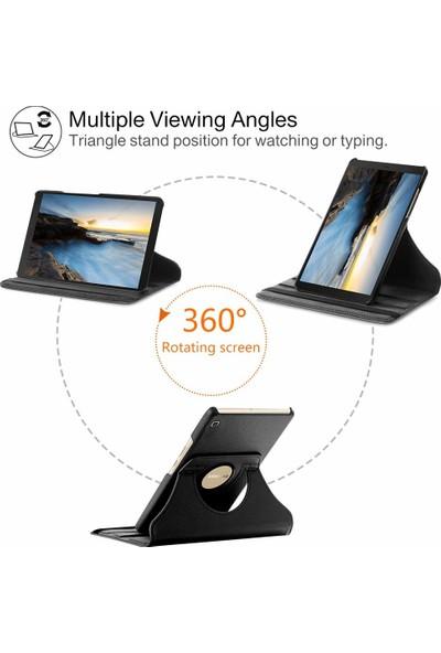 Turotto Samsung Galaxy Tab S6 Lite P610 P615 P617 10.4 Inç Kalemlikli Yatay ve Dikey Standlı 360 Dönerli Uyku Modlu Kılıf - Siyah