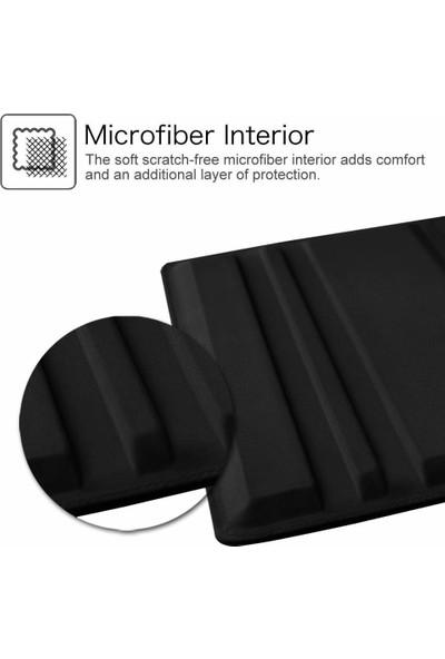 Turotto Samsung Galaxy Tab S6 Lite P610 P615 P617 10.4 Inç Kalemlikli Yatay ve Dikey Standlı 360 Dönerli Uyku Modlu Kılıf + Ekran Koruyucu Siyah