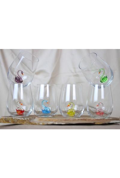 Adamodart Kuğu Figürlü Su Bardağı Seti