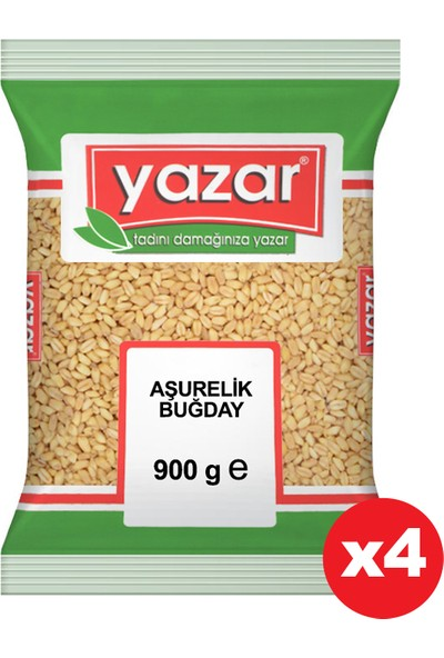 Yazar Aşurelik Buğday 900 gr x 4 Paket
