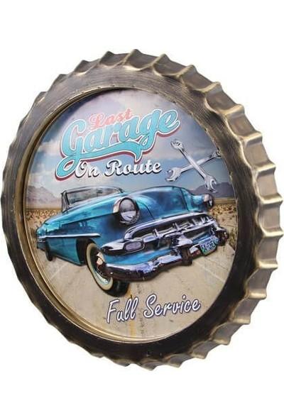 MNK Dekoratif Kapak Modeli Garage& Chevrolet Temalı LED Işıklı Duvar Panosu