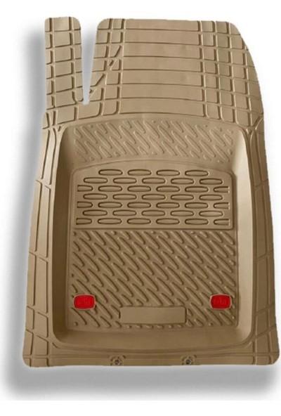 Team Car 2012 Model Hyundai Santa Fe Için 3D Havuzlu Tip Universal Paspas - Lüks Bej
