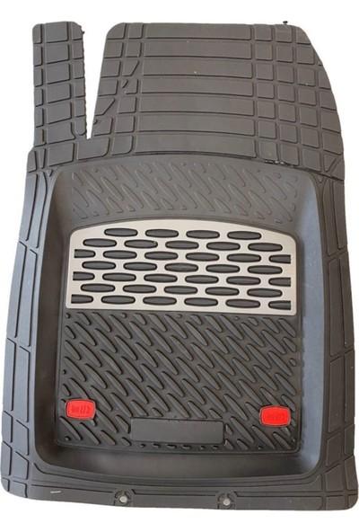 Team Car 2010 Model Honda Jazz Için 3D Havuzlu Tip Universal Paspas - Gri Kromajlı
