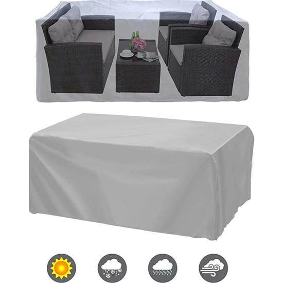 Coverplus Bahçe Mobilya Koruma Örtüsü Su Geçirmez Branda 200 x 200 x 80 cm - Gri