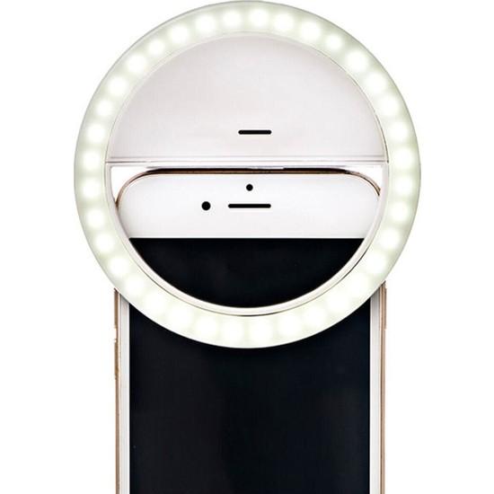 Züka Home Selfie Özçekim Işığı 3 Kademeli Şarj Edilebilir LED Aydınlatma Kamera Işığı Flash Aparatı