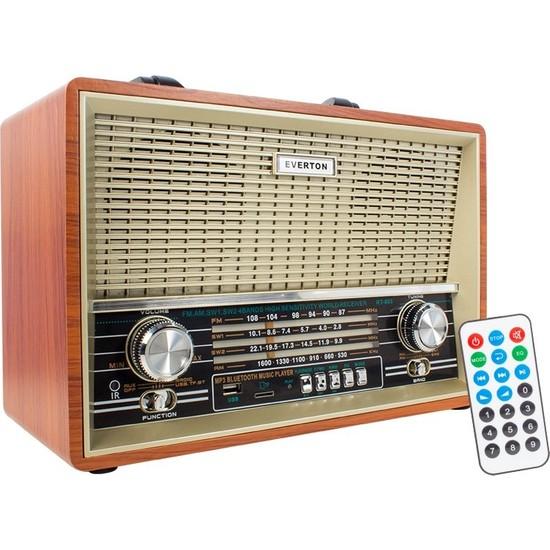 Everton RT-880B Nostaljik Alarm Saatli Bluetooth Radyo
