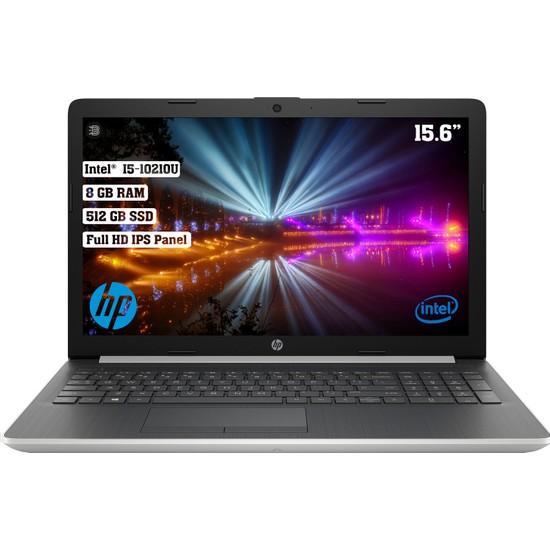 """HP 15-DA2080NT Intel Core i5 10210U 8GB 512GB SSD Freedos 15.6"""" FHD Taşınabilir Bilgisayar 1S7Y1EA"""