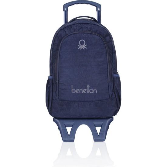 United Colors Of Benetton Çekçekli Okul Çantası 70023 Lacivert