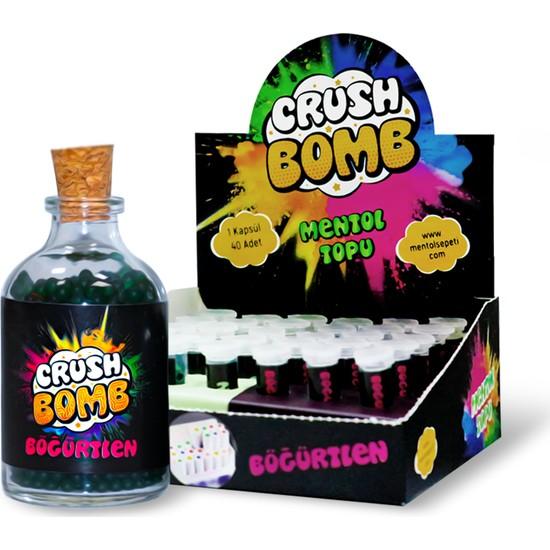 Crush Bomb Mentol topu 210 adet double fusion,böğürtlen aroması + Aparat hediyeli
