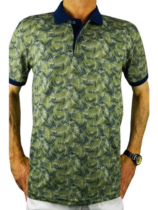 Bigazzi Erkek Baskılı Pike Lyc Tshirt 3228