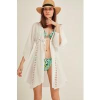 C&city Kadın Pareo Plaj Elbisesi 2005 Beyaz