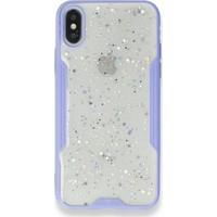 Moserini iPhone 8 Platin Silikon Silvery Lila Telefon Kılıfı - Simli