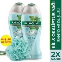Palmolive Spa Therapy Clay Tonus Kil Duş Jeli 500 ml 2'li + Duş Lifi