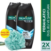 Palmolive Men Pure Arctic 2in1 Erkek Duş Jeli 2x500 ml +Lif