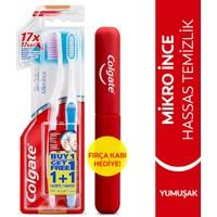 Colgate Mikro İnce Hassas Temizlik Yumuşak Diş Fırçası 1+1 Diş Fırçası Kabı Hediye