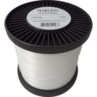 AlbaStar Marlıon Bobin Monofılament 1 Kg. Misina - 1.00 mm - Beyaz
