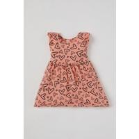 DeFacto Kız Bebek Kalp Desenli Kolsuz Örme Elbise