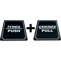 Itiniz Push Çekiniz Pull Takım 2 Adet Yönlendirme Tabela