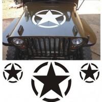 Army Jeep Sticker Set