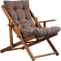 Cms Sandalye Ahşap Dinleme Koltuğu, Katlanır Şezlong, Minderli Tv Koltuğu ve Sandalyesi