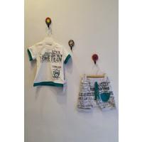 Minidoll Erkek Bebek 6-18 Ay Üçgen Cepli Ikili Takım