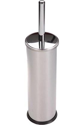 Vip Gross Paslanmaz Krom Wc Klozet Fırçası Gümüş Akıllı Kapak Tuvalet Fırçası