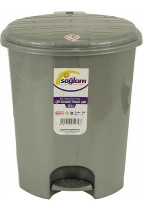 Sağlam Plastik Düz Pedallı Çöp Kovası 3 Nolu Iç Kovasız (18 lt)