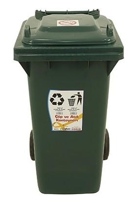 Sağlam Plastik Çöp Ve Atık Konteyneri 120 lt Tekerlekli Eko