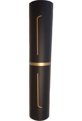 Yogatime Rubber Yoga/pilates Mat Golden Line 5 Mm. Lotus Siyah